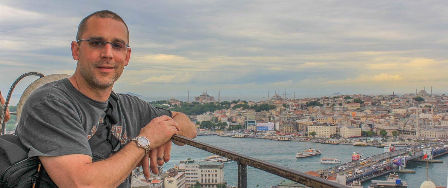 Peter at Galata Tower in Istanbul