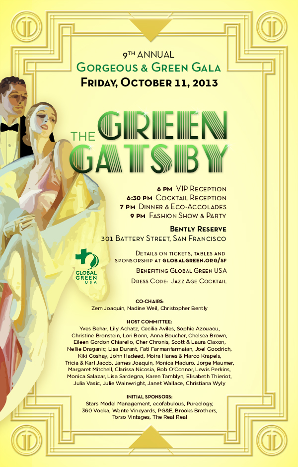 Green Gatsby Invite